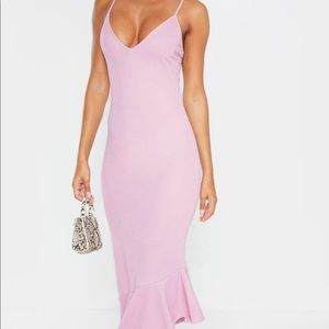 Lilac Frill Hem Dress